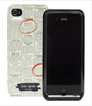 "Kate Spade Premium HardShell ""Newspaper"" Case for iPhone 4 (Style 01959-0)"
