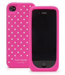 Kate Spade Premium Silicone Flushed Dots Case for iPhone 4 (Style 01684-0)