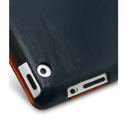Melkco Leather Case для iPad 2 - Slimme Cover Type Vintage Blue (темносиний)