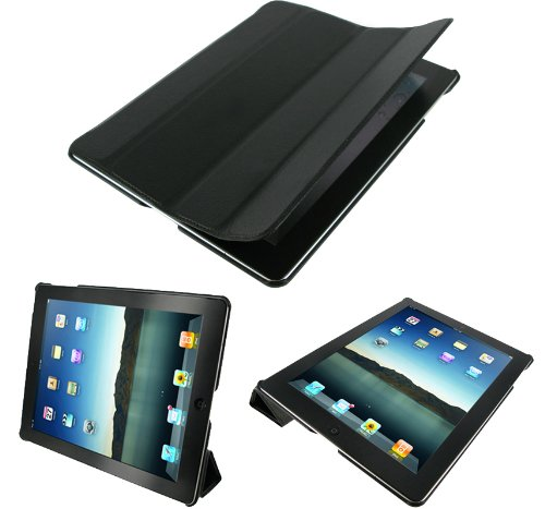rooCASE Ultra Slim Leather Smart Case with Stand (черный)