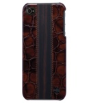 Trexta Ebony Wood on Croco Brown для iPhone 4 (+ пленка)