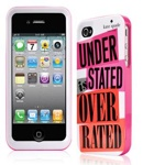 Kate Spade Premium HardShell Understated Overrated Case for iPhone 4 (Style 02022-0)